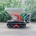 mini crawler type hydraulic motor drive fertilizer spreader 2