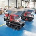 mini crawler type hydraulic motor drive fertilizer spreader 4