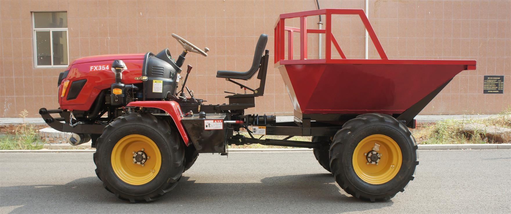 4WD Triangular Tracked transporter Tractor 11