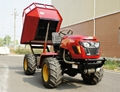 4WD Triangular Tracked transporter Tractor 12