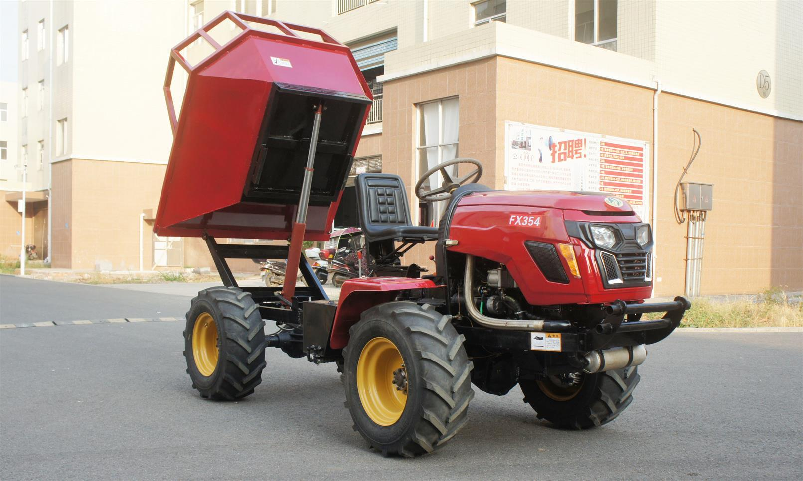 4WD Triangular Tracked transporter Tractor 13