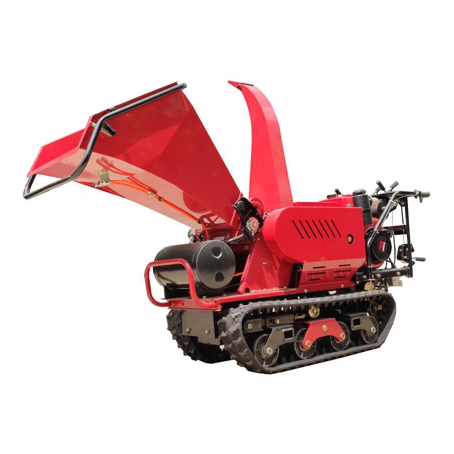 Mini Crawler moving leaf shredder 4