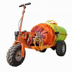 mini orchard self propelled air blast power sprayer