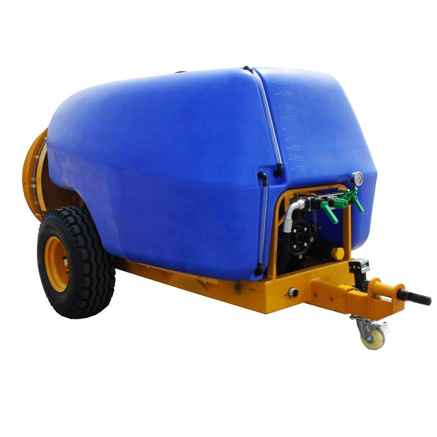 1600L 拖拉机牵引式果园风送打药机 1