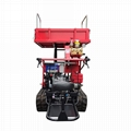 Mini crawler type orchard truck dumper with lift container 3