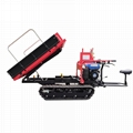 Mini crawler type orchard truck dumper with lift container 5