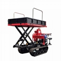 rubber tracked site dumper transportor with lift container
