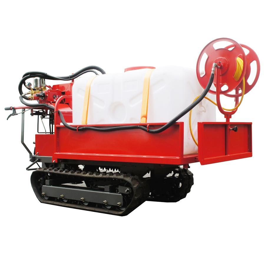 mini Rubber Track Dumper with power sprayer