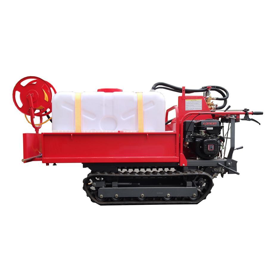 mini Rubber Track Dumper with power sprayer 2