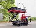 mini Rubber Track Dumper with power sprayer 11