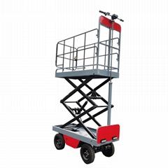 electric greenhouse hydraulic scissor lift trolley