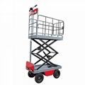 electric greenhouse hydraulic scissor lift trolley 2