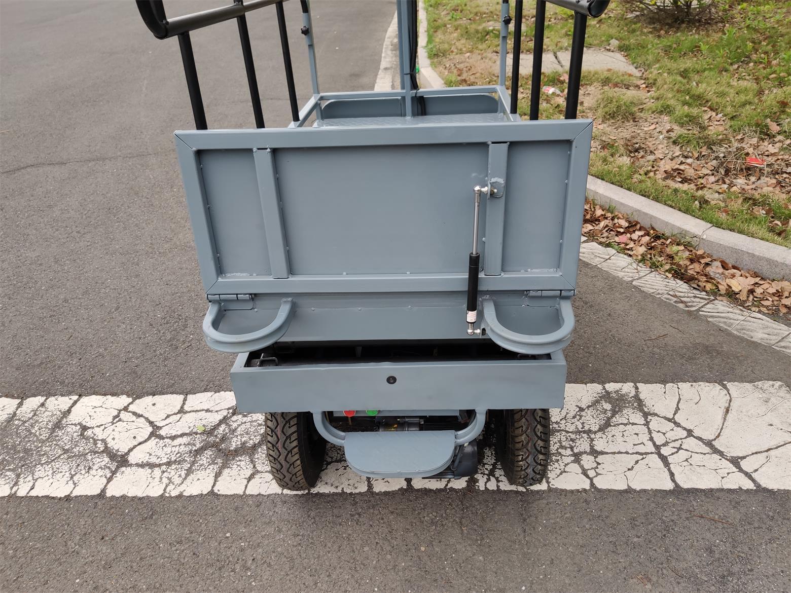 electric greenhouse hydraulic scissor lift trolley 7