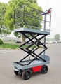 electric Self-Propelled hydraulic lift Trolley for greenhouse