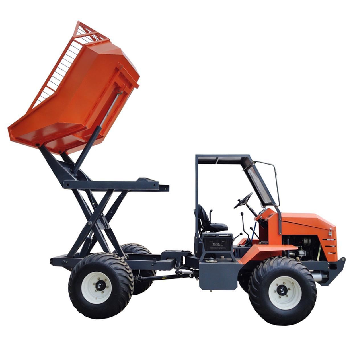 High Lifting container 4WD Palm Oil Tractor 6