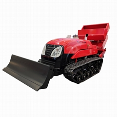 remote control garden crawler tracot with air balst power sprayer