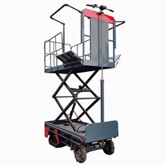 Electric crawler orchard lifting platform