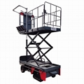 Electric crawler orchard lifting platform