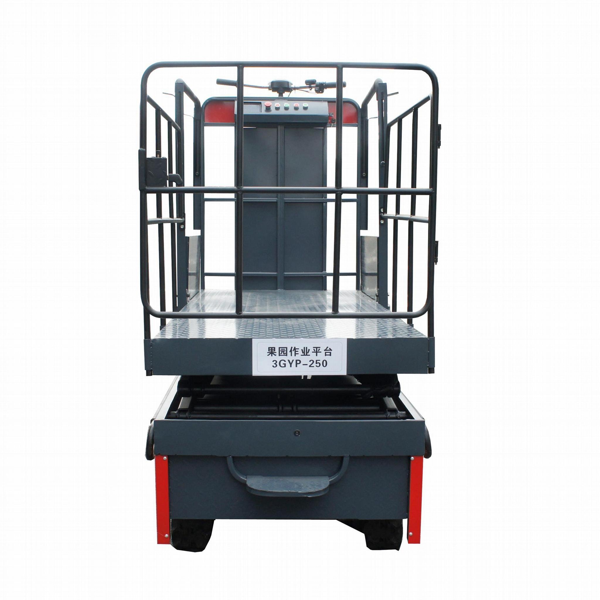 温室大棚电动液压升降作业采摘工作平台 2