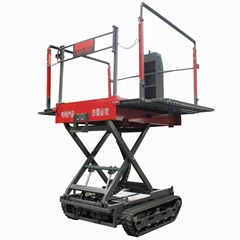 crawler remote control work platform for garden fruits picking