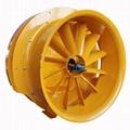 牵引式果园风送喷药机风机系统