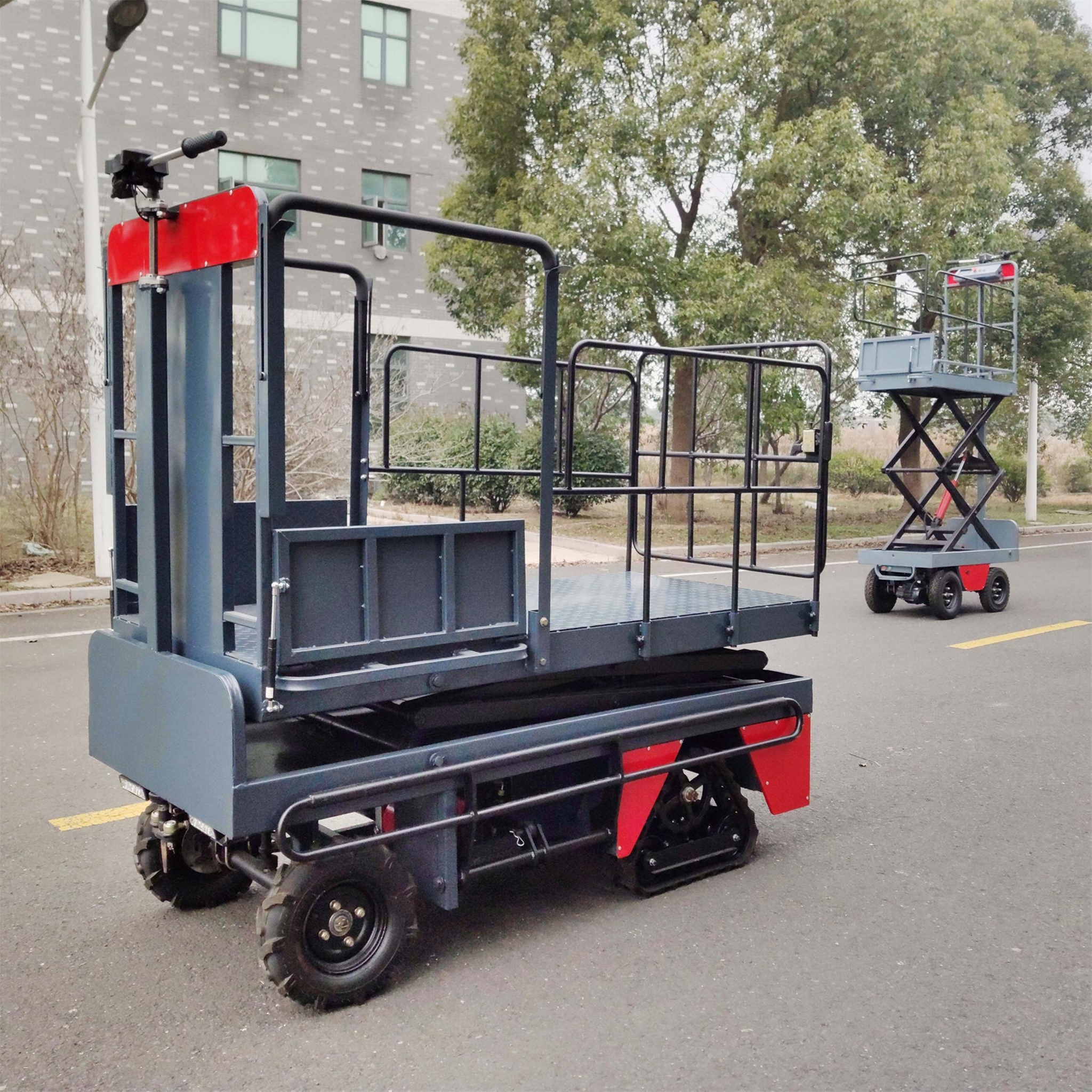 greenhouse harvest trolley with electric track 13