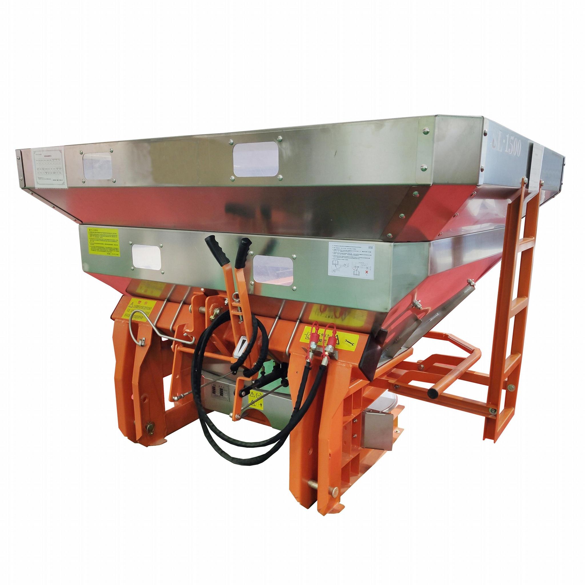 Tractor trailed fertilizer spreader machine