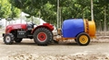 tractor trailed sprayer for tall trees