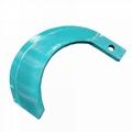 Rotary blade for paddy fileds ridge plastering machine