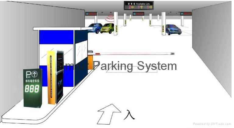 Available Lots Information Real-time Indoor Parking Guiding Led Display 5