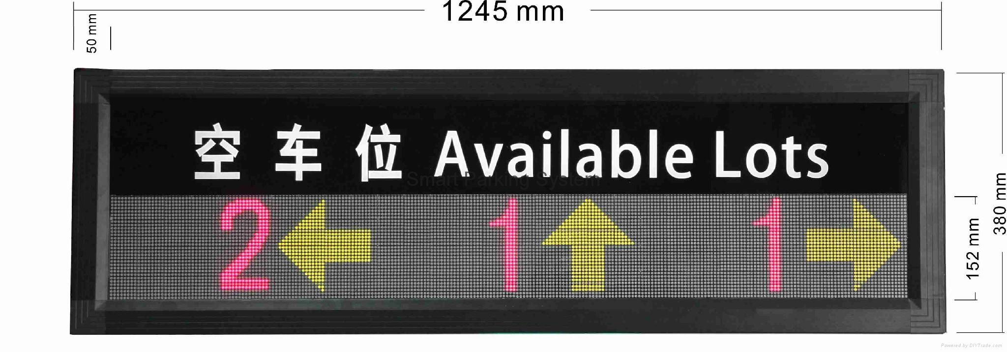 Available Lots Information Real-time Indoor Parking Guiding Led Display 3
