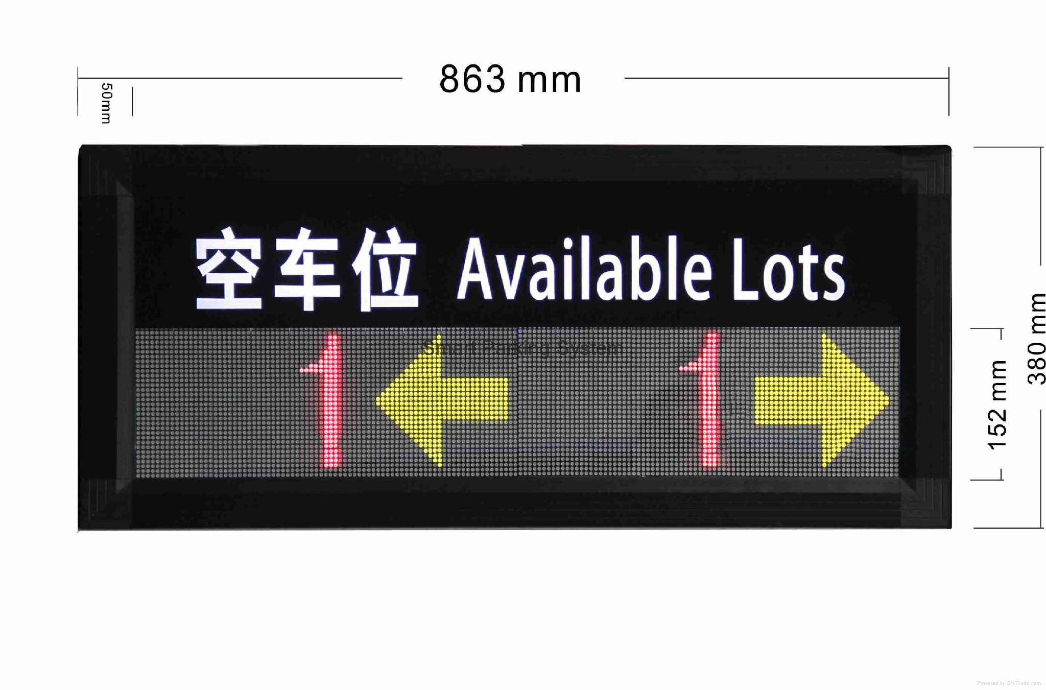 Available Lots Information Real-time Indoor Parking Guiding Led Display 2