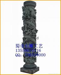 供应石雕文化柱  龙柱