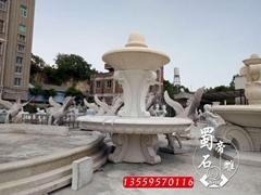 石雕喷泉石雕水钵大量喷泉现货腾磊石材厂家直销