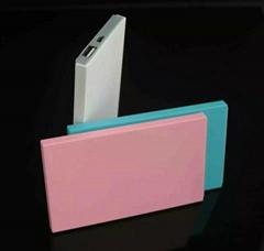 超薄名片移动电源手机充电宝 聚合物卡片移动电源 带U盘功能