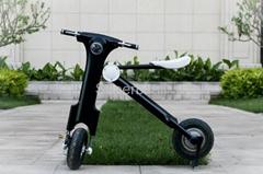 高档可折叠电动摩托车电动自行车折叠代步车