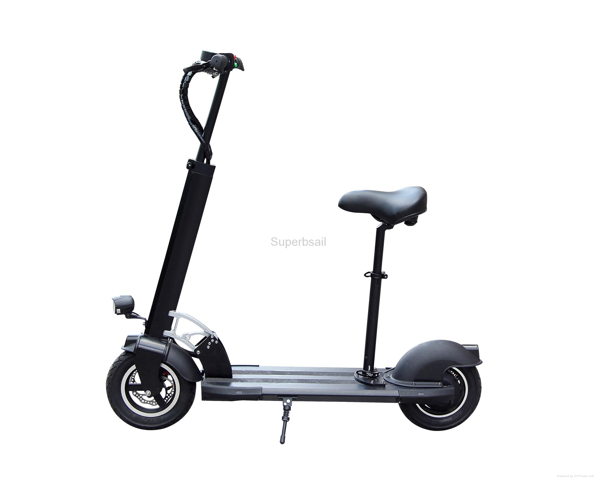 10 4ah li ion battery folding electric scooter and adult for Motorized scooters for adults