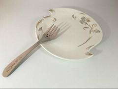 創意新穎不鏽鋼儿童餐具大白304