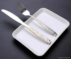 創意鍍金不鏽鋼刀叉勺