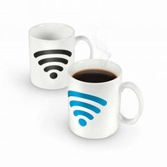Promotional Creative Color-Changing Ceramics Mug with Custom Logo and Design