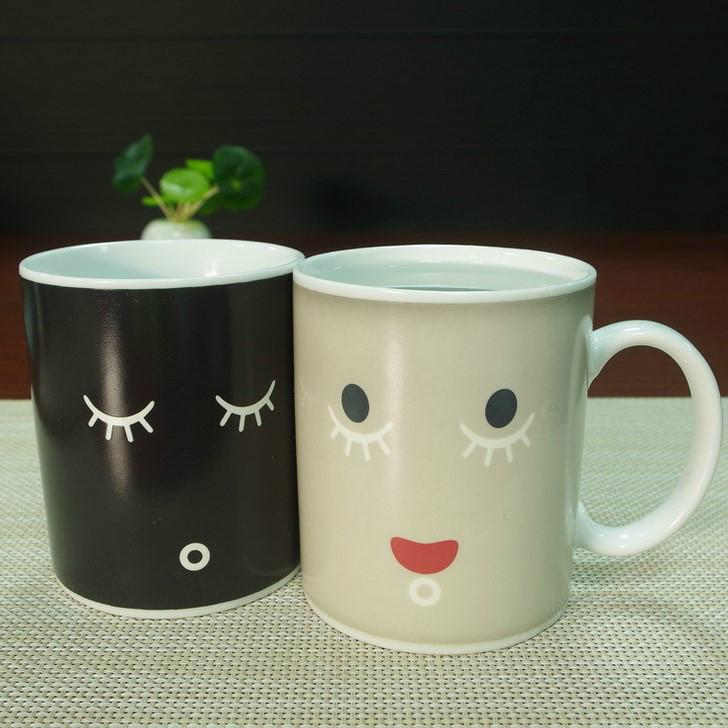 Promotional Creative Color-Changing Ceramics Mug with Custom Logo and Design 5