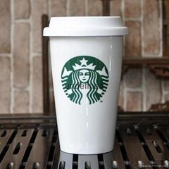 Starbar Coffee Lock-Lock Ceramics Travel Mug with Silicone Lid