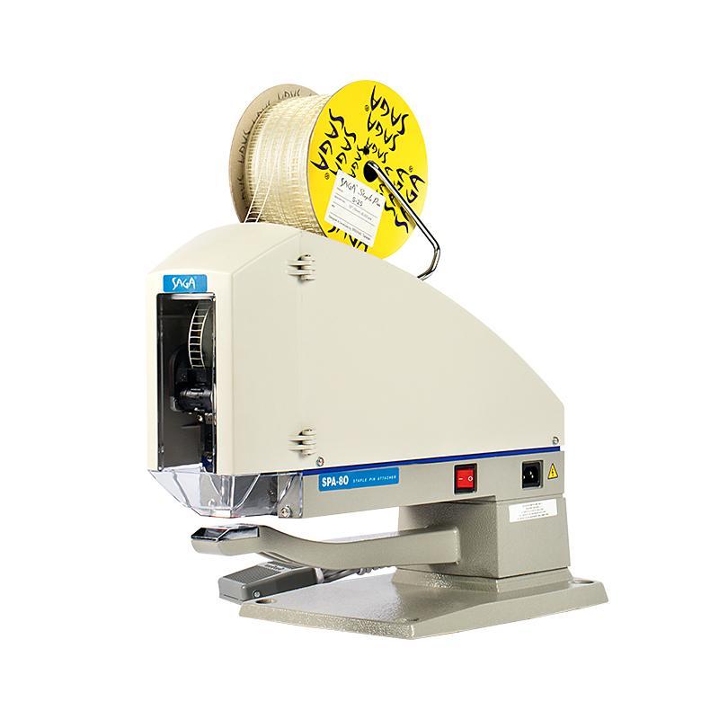 SAGA  SPA-80 標籤膠釘機 釘打腰卡 牛仔洗水定位 1