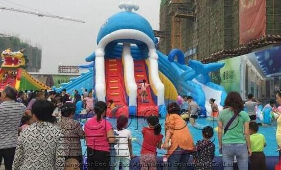 小鯨魚充氣水滑梯 2