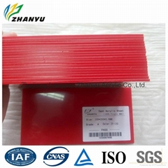 100% New Material Virgin Lucite 1.5- 50mm Red Color Cast Acrylic Sheet
