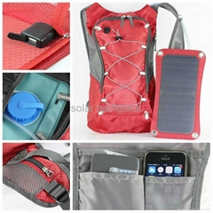 wholesale backpack bag new design solar panel backpack