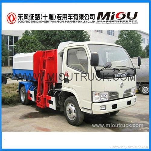 Dongfeng 4x2 small garbage truck refuse collector garbage truck for sale 3