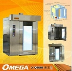 Hot Sale OMEGA gas oven with 32 trays rotary oven