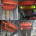Metallurgical double beam crane