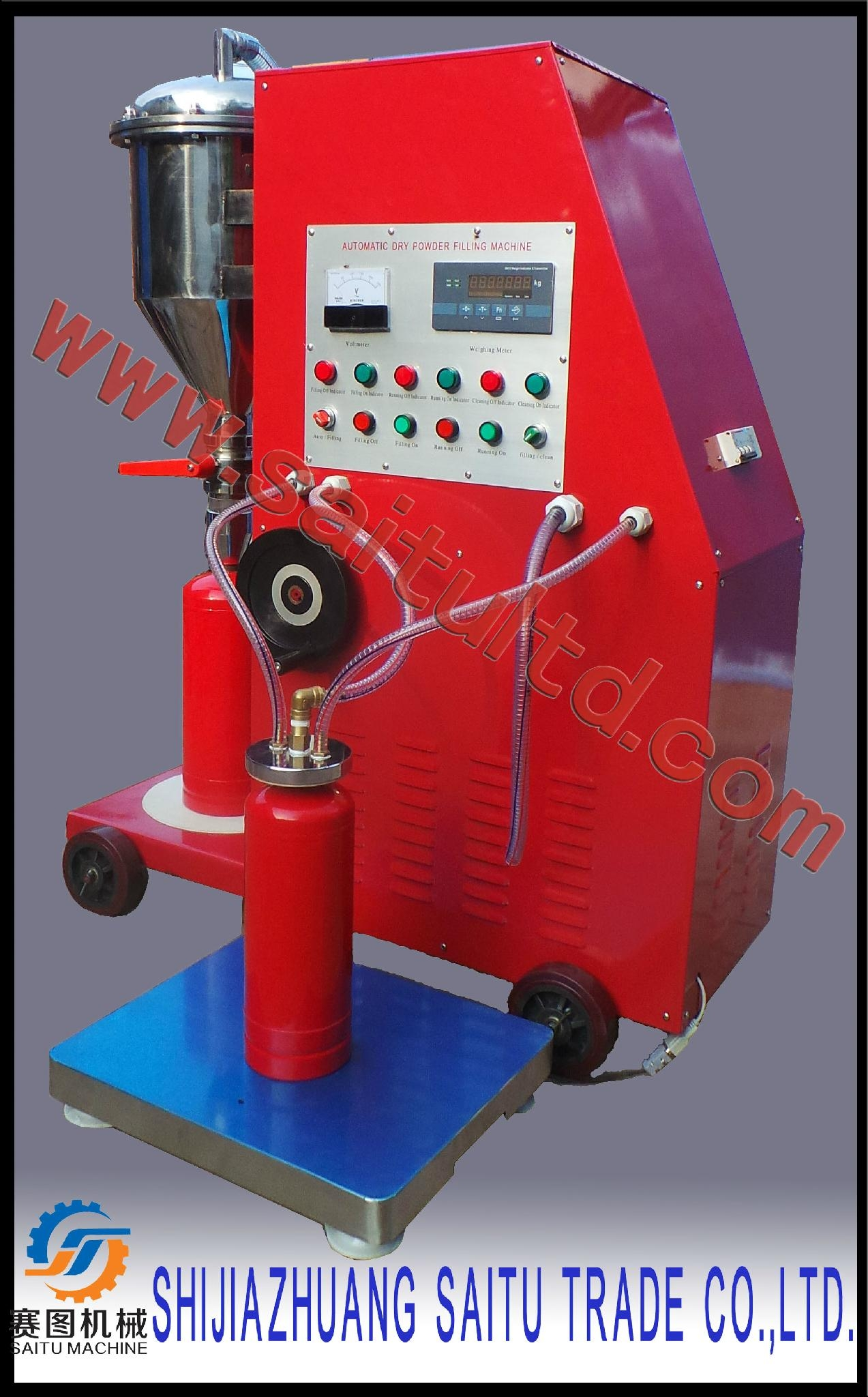 ABC/BC powder fire extinguisher filling machine/extinguisher hydrostatic test  1